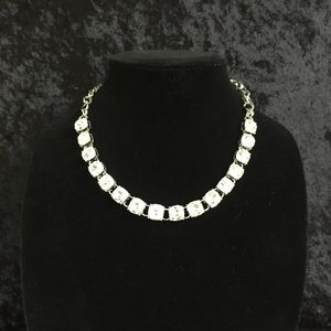 Jewelry - Blingy Square Rhinestone  Necklace